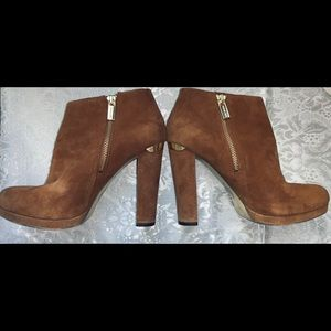 Michael Kors suede brown ankle boots